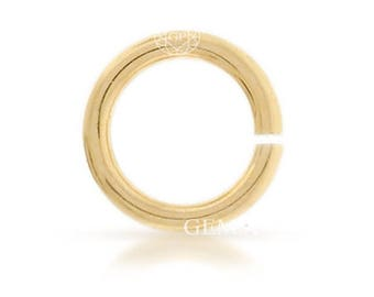 50 Pcs, 14k Gold Filled Open Jump Ring 20ga 5mm (GP-GF2194)