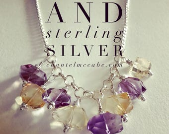 Ametrine and sterling silver necklace, Perth Western Australia