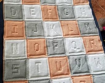 Abc baby blanket already made