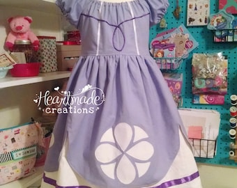 Sofia the First Princess Dress - Princess Inspired Dress - Sizes 6/12 months through 10