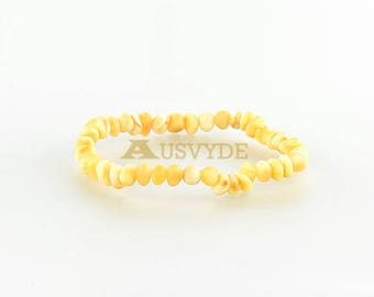 Baltic amber raw Beads bracelet for Adults Gift. Amber raw bracelet. BALTIC AMBER. Beaded bracelet. Natural Amber. 5695