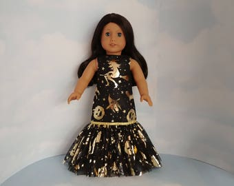 Halloween Dropwaist Gown 18 inch doll clothes - #230