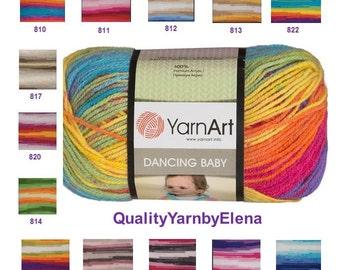 YARN ART Dancing Baby -  Children acrylic- 100g 250m  (273  yards) turkish yarn