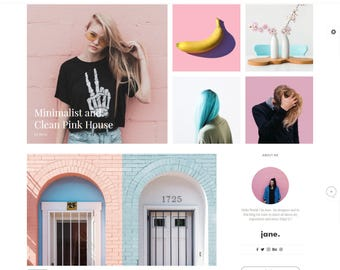 WordPress Theme Responsive - Fashion Wordpress Theme - Wordpress Blog Theme - Minimalist Wordpress - Jane Wordpress Blog Theme - Woocommerce