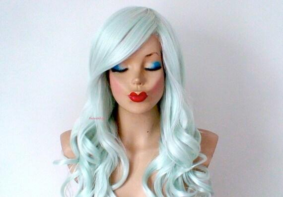 Mint Green Wig | NubianPrincessHairShop.com |Mint Hair Wig