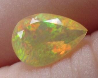 Bright Green Orange Flash Opal 5x7mm Natural Ethiopian Gemstone Neon Flash with Video