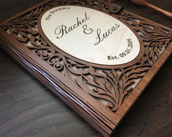 Personalized Guest Book, Wedding Guest Book, Wedding Guestbook, Unique Guestbook, Custom Guest Book, Wood Guest Book, Guest Book Wedding