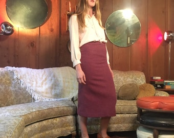 Need for Tweed 80's London Pencil Skirt // xs