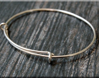 Sterling Silver Expandable Bangle Bracelet, Adjustable Bangle, Bangle Bracelet, Charm Bracelet, Charm Jewelry, Sterling Silver Bracelet