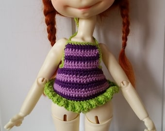 1 Sprocket Swimsuit Purple and Green