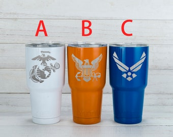 Yeti Tumblers Engraved With US Air Force Personalized Yeti Tumblers 20 oz US Air Force Yeti Gift For Men US Air Force Yeti Rambler 30 oz