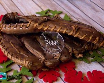 Baseball Ornament - Softball Ornament - Engraved Ornament - Baseball Gift - Christmas Ornament - Sports Ornament - Baseball Lover