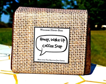 Honey Wake Up Exfoliating Coffee Scented Soap