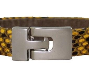 Python Bracelet, Python Cuff, BAJ 496 S Yellow
