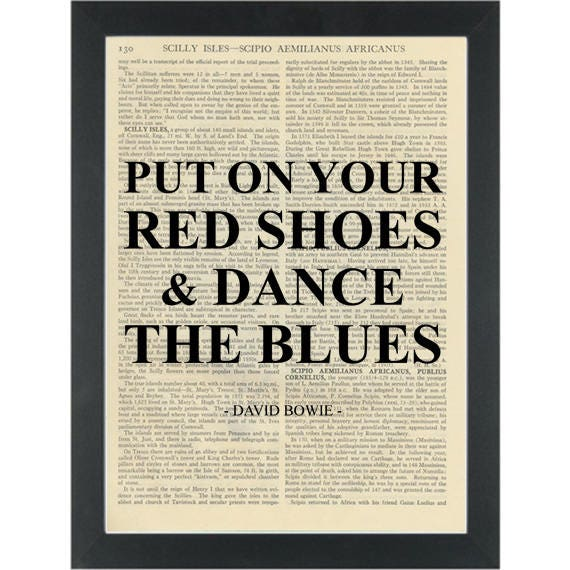 Music lyrics david bowie red shoes dance blues dictionary art like this item stopboris Gallery