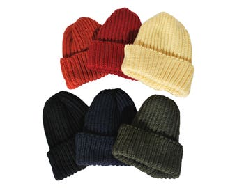 QMC Made in UK Beanie, 100% Wool Winter Hat