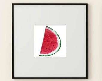 What A Melon! Printable Wall Art Poster Instant Download