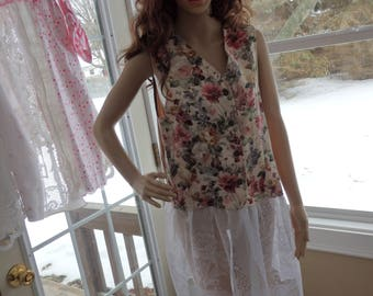 Vest Dress, Lace Vest, Lace Duster, Tapestry Tunic, Lace tunic, Tapestry Dress, Lace Floral Vest, Floral Lace Dress, Tunic Dress