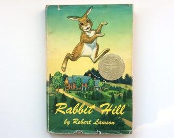 Newbery Award Winning Rabbit Hill by Robert Lawson, 1960