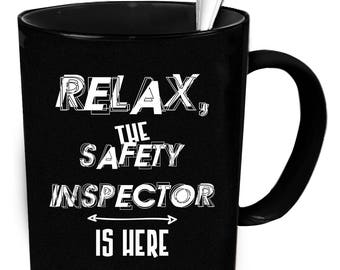 Safety Inspector coffee mug. Tea or coffee cute and funny gift idea 11 oz ceramic mugs