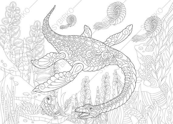 plesiosaurus dinosaur dino coloring pages animal coloring. Black Bedroom Furniture Sets. Home Design Ideas