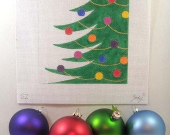 Christmas Tree Needlepoint Square  7 x 7 - Jody Designs   S2