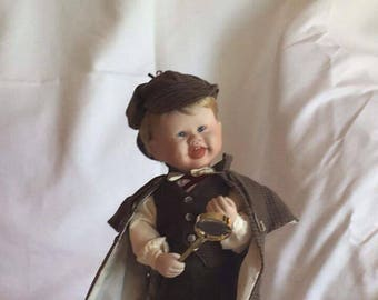 "Knowles ""Little Sherlock"" Porcelain Doll"
