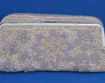Beaded and Sequin Clutch Purse