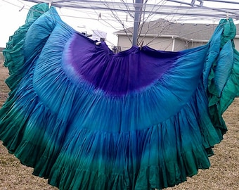 Custom Tri-Color 25yd hand dip dyed skirts