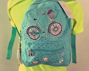 Let's Take a Bike Ride Bling Backpack