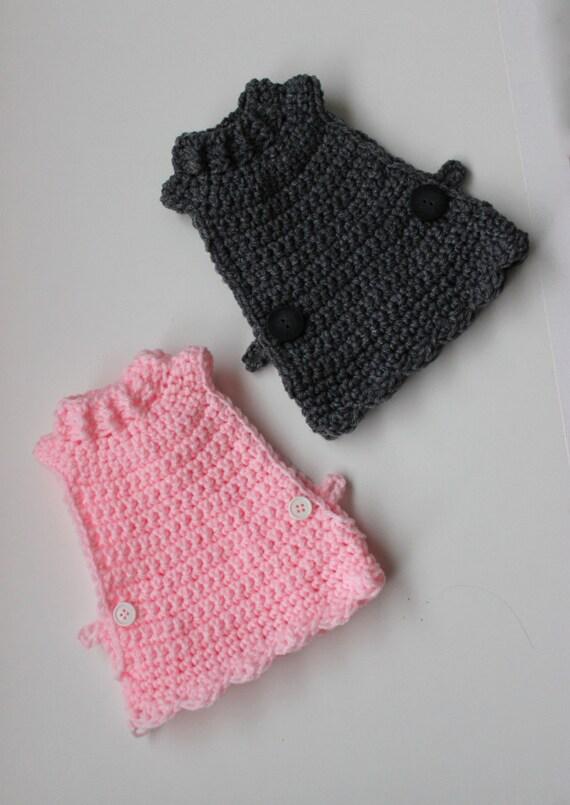 Crochet Pattern School Girl Chicken Sweater Crocheted Chicken