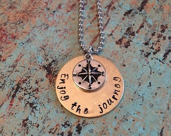 Hand Stamped Graduation Necklaces