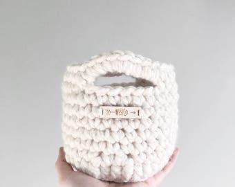 Mini Baskets   crochet storage baskets   featured in FISHERMAN