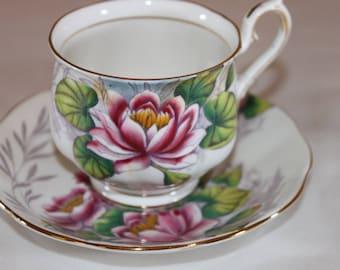 Vintage Royal Albert Teacup Morning Glory Flower of the Month Series English Bone China Tea Set Wedding Table Bridal Tea Party English China