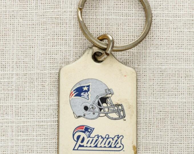 Vintage New England Patriots Keychain FOB NFL Brass Key Chain Football AFC East Robert Kraft Gillette Stadium Bill Belichick 6KC