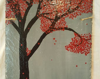 The Red Tree in Autumn