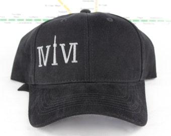 Sale! Grey-tness! Raised Grey on Black 416 Hats. Custom Strap backs CN Tower, The Six, 6ix, Area Code, GTA Hats, 647, YYZ, Roman Numerals
