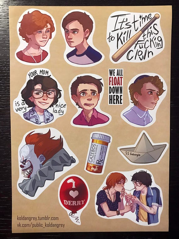 It movie 2017 handmade stickers