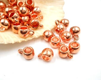 20 Rose Gold Plated Slider Bails With Loop - 16-RG-1