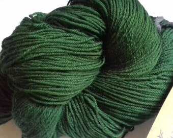 Emerald City. 100g (400m) of hand dyed 4 ply yarn
