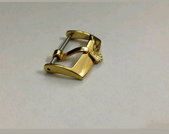 Rolex,18mm buckle stainless steel gold tone fits to 20mm strap