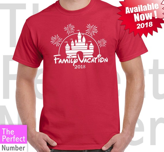Disney Family Vacation Castle Fireworks Matching T Shirt 2018