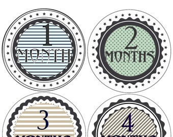 Baby Monthly Stickers Month Stickers Bodysuit Milestone Stickers Monthly Baby Stickers Photo Baby Sticker Month by Month Sticker Shower Gift