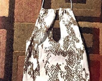 Handmade snake skin pattern crop top