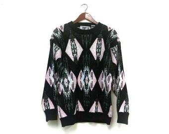 1980s Aztec Southwestern bohemian hipster sweater