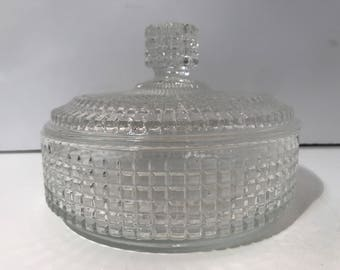Vintage Candy Trinket Powder Glass Box