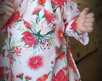 Gorgeous bottlebrush long sleeve dress size 1