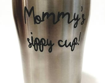 Custom engraved tumbler, engraved coffee cup, engraved drink holder, personalized coffee cup, personalized tumbler, metal coffee cup