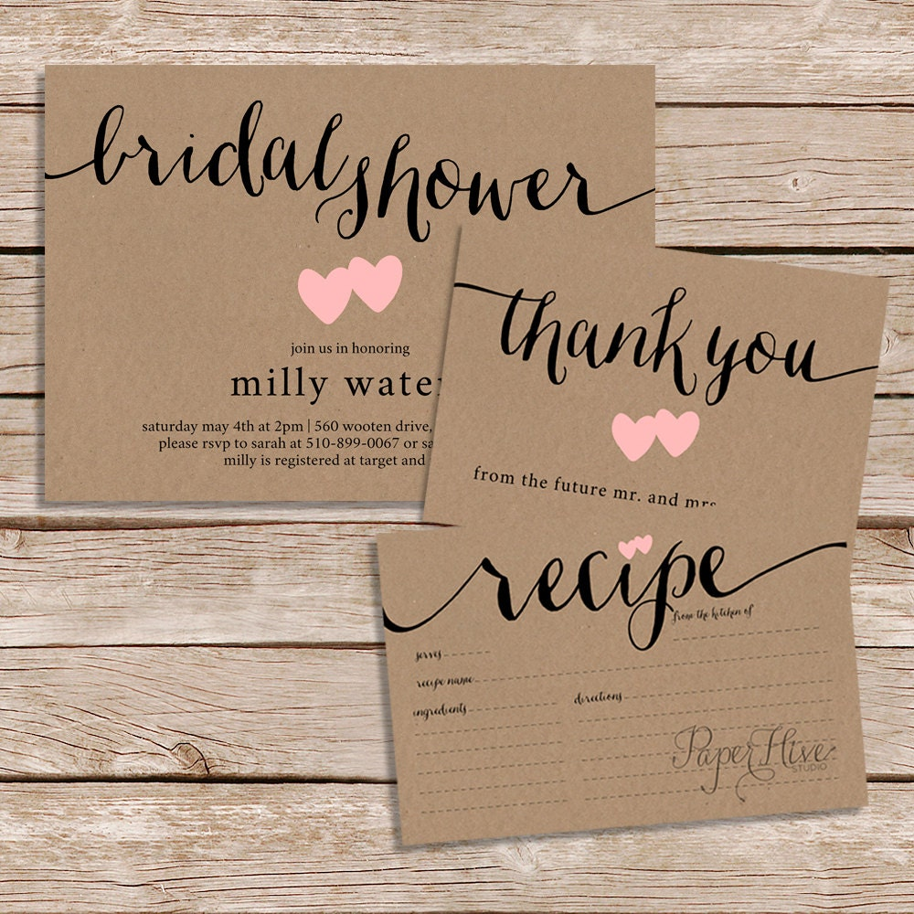 bridal printable invitations invitation prints which rustic template card beautifully on diy mountainmodernlife instantly this shower com simple kraft shop download