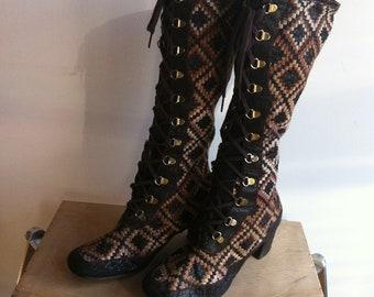 Gogo boots 6.5 7 , carpet .